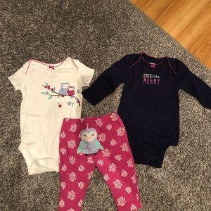 Carter's Baby girl 3 month outfit set
